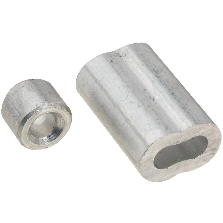 National 3/16 In. Aluminum Garage Door Ferrule & Stop Kit Image 1
