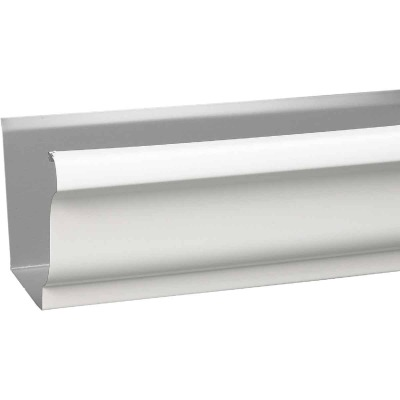 Amerimax 5 In. x 10 Ft. K-Style White Galvanized Steel Gutter