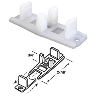 Prime-Line 3/4 In. Adjustable Nylon Base Bypass Door Bottom Guide (2 Count)