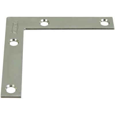 National Catalog 117 3 In. x 1/2 In. Zinc Flat Corner Iron