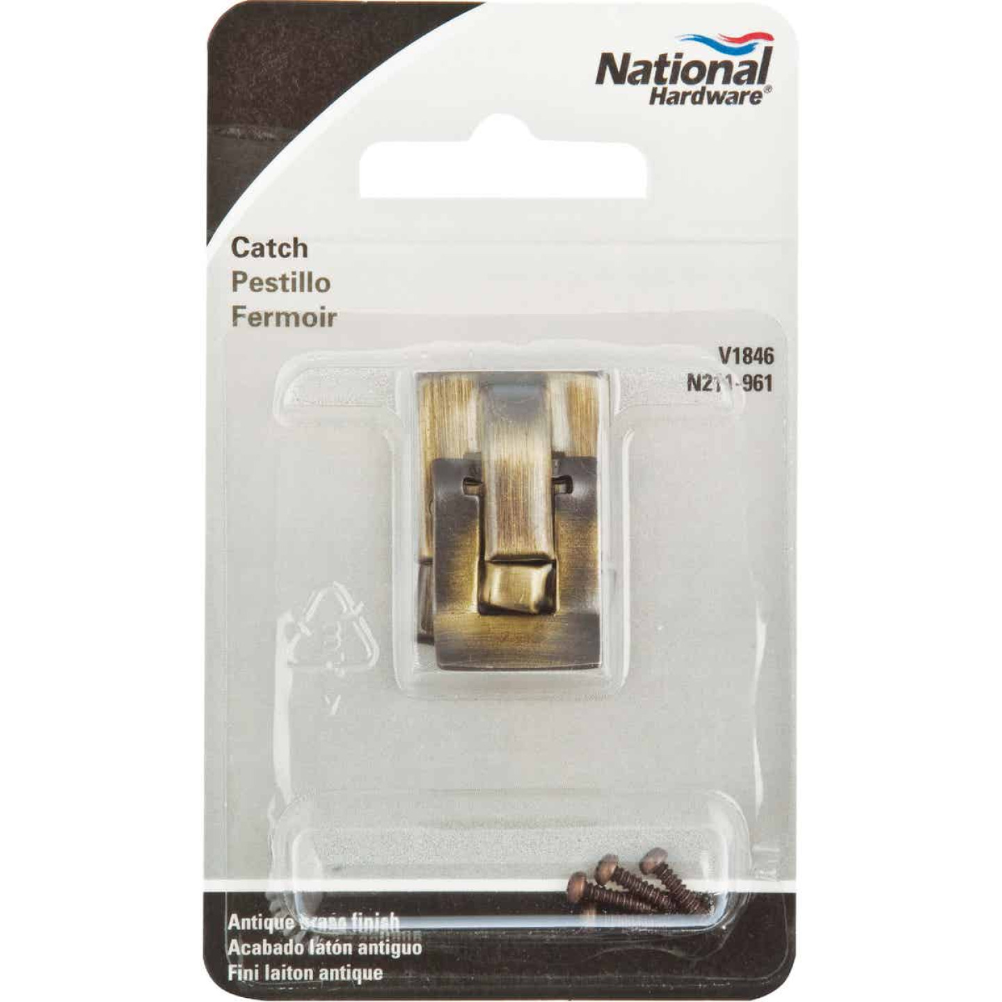 National Antique Brass Snap Catch Image 2