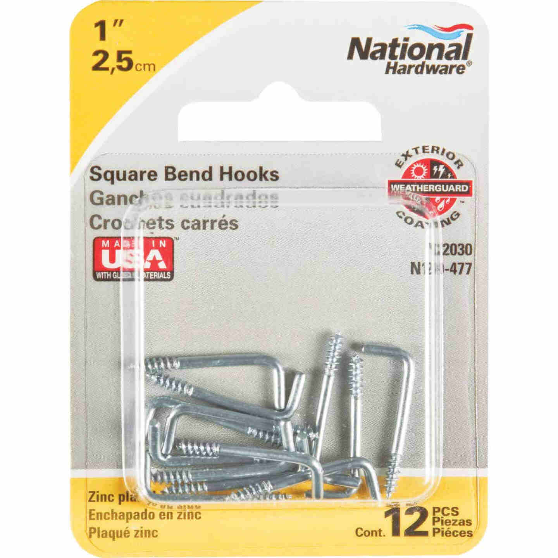 National 2030 Series #114 Square Bend Screw Hook Shoulder Hook (12 Count) Image 2