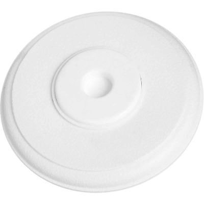 National 336 5 In. White Softstop Cover-Up Wall Door Stop