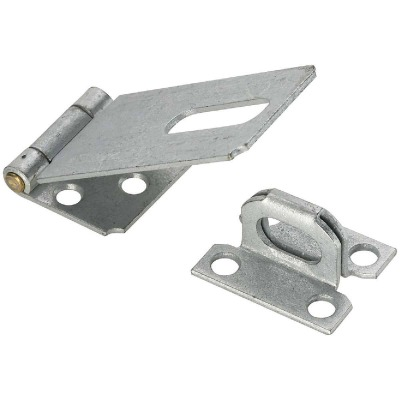 National 3-1/4 In. Galvanized Non-Swivel Safety Hasp