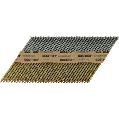 Bostitch 30 Deg Paper Tape Galvanized Offset Round Head Framing Stick Nail, 3 In. x .120 In. (2000 Ct.)