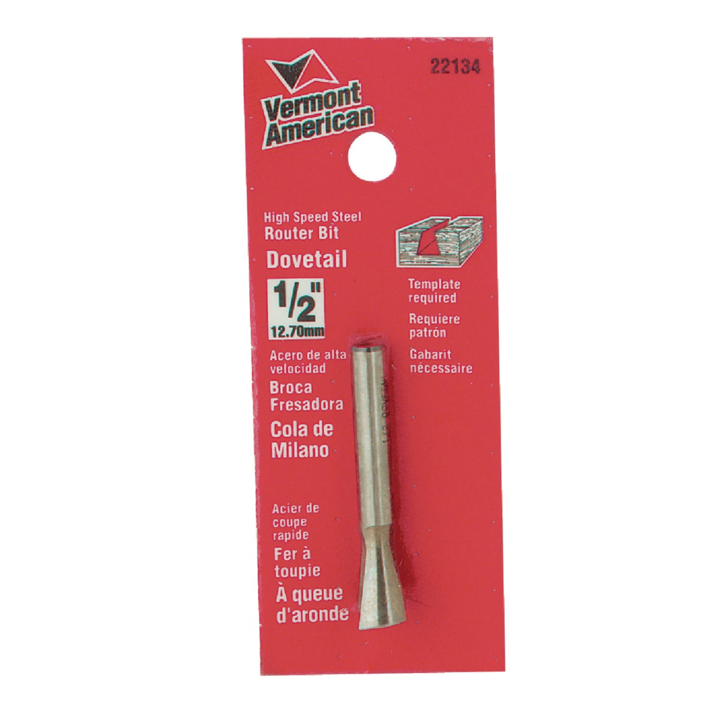 Vermont American Carbide Dovetail 1/2 In. Dovetail Bit Image 1