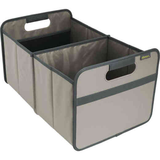 Meori 2-Compartment Stone Gray Foldable Reusable Box
