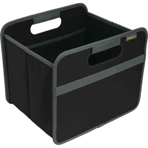 Meori 1-Compartment Lava Black Foldable Reusable Box