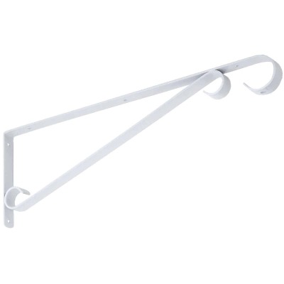 National 15 In. White Steel Hanging Plant Bracket